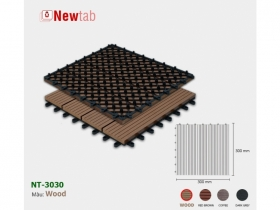 Vi Gỗ Nhựa Ngoài Trời - Màu Wood