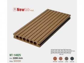 Sàn Gỗ Nhựa Ngoài Trời Lỗ Tròn - Màu Wood
